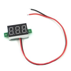 Woltomierz LED 2.5V-30V Czerwony