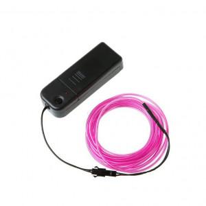 Neon elastyczny 3m Różowy + sterownik