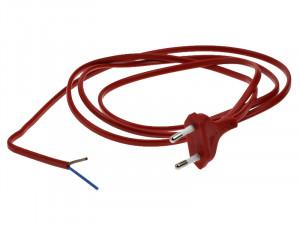 Kabel zasilający czerwony długość:1.6m