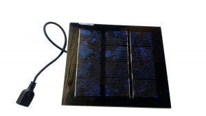 Ogniwo słoneczne 1W 6V USB OS10 142x163x2.2mm