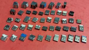 Zestaw 49szt gniazd i wtyków USB