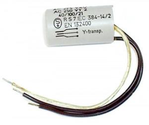 Kondensator przeciwzakłóceniowy 0.1uF/250V + 2x0.027uFY