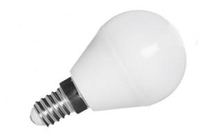 Żarówka LED 5W kulka (odp. 48W) E14 biały ciepły 3000K