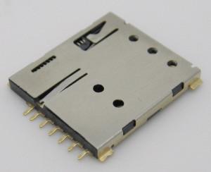 Gniazdo do karty NANO SIM 6PIN z wyrzutnikiem NS1