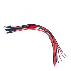 Dioda LED 3mm 12V DC biała matowa z przewodem 20cm