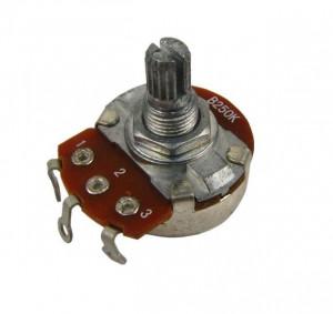 Potencjometr gitarowy 250K Ohm A (logarytmiczny) 24/18mm