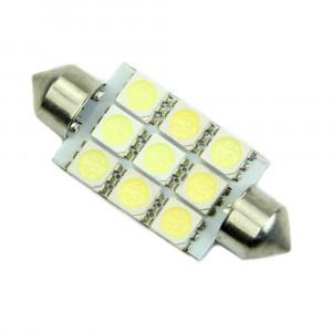Żarówka LED 12V C5W 0.9W Biała 16x41mm