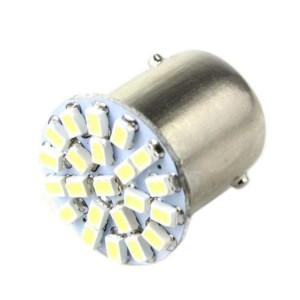 Żarówka LED 12V BA15S 1W Biała 22 LED 19x22mm