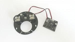 Moduł oświetlenia podczerwienią 2 diody z soczewką 120°