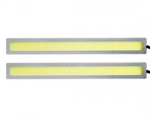 Lampa LED 12V Biała 2x4W 175mm srebrne
