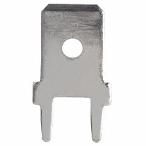 Konektor samochodowy męski 4.8mm prosty do PCB opak=100 szt