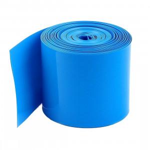 Folia termokurczliwa na 1 akumulator 18650, długość 20mb niebieska