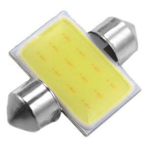 Żarówka LED 12V C5W 1W Biała 18x31mm