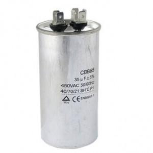 Kondensator silnikowy 10uF/450VAC CBB65 z konektorami