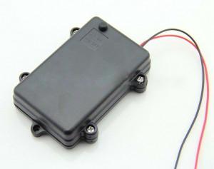 Koszyk hermetyczny na 3 baterie AA 1.5V z pokrywką i wyłącznikiem