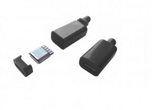 Gniazdo micro USB typu B montowane na kabel