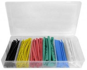Komplet rurek termokurczliwych kolorowych 100szt pudełko