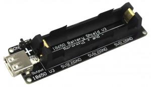 Arduino Battery 18650 Shield /power bank