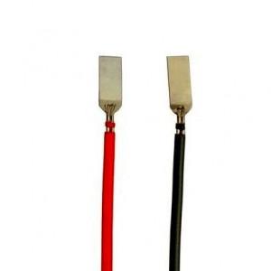 Przewody do akumulatora 18650 (kpl czarny + czerwony)