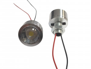 Lampka LED 5V biała 1W 24mm wypukła soczewka