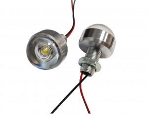 Lampka LED 5V biała 1W 26mm h=21mm