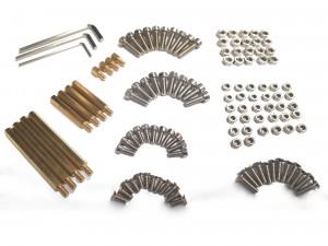 Zestaw 120szt śrubek, nakrętek i tulejek dystansowych