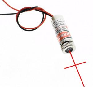 Laser krzyżowy 3-5V moc:5mW 650nm czerwony