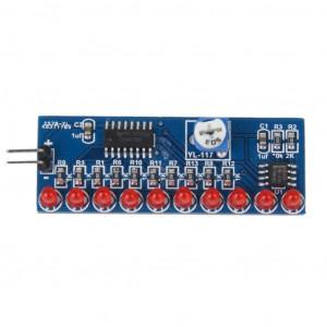 """Moduł LED """"pływające światło"""" CD4017 KIT SMD"""