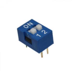 DIP Switch x2 Niebieski l=70szt