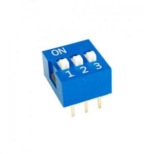 DIP Switch x3 Niebieski l=51szt