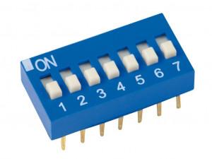 DIP Switch x7 Niebieski l=24szt