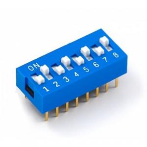 DIP Switch x8 Niebieski l=21szt