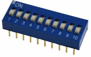 DIP Switch x10 Niebieski l=17szt