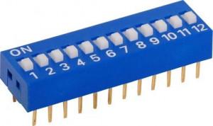 DIP Switch x12 Niebieski l=14szt