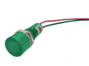 Kontrolka LED 12mm 12V zielona