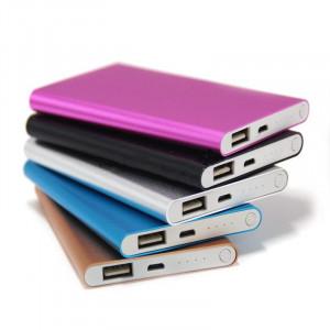 Obudowa powerbank Li-Poly 125x69mm srebrna (USB 5V 1A)