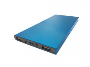 Obudowa powerbank Li-Poly 153x75mm niebieska (USB 5V 1A oraz 5V 2.1A)