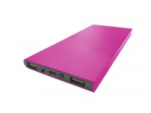 Obudowa powerbank Li-Poly 153x75mm różowa (USB 5V 1A oraz 5V 2.1A)