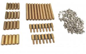 Zestaw 105szt tulejek dystansowych + śrubki