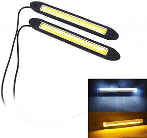 Lampa LED 12V Biała/żółta 2x10W 255mm