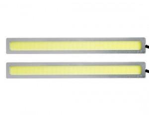 Lampa LED 12V biała 2x4W 140mm srebrne