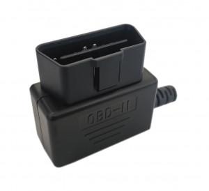 Wtyk OBD2 męski kątowy na kabel