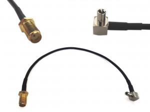 Adapter złącze SMA żeńskie-> TS9 20cm