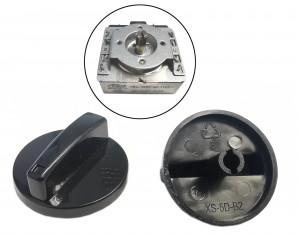 Gałka 47mm do wyłączników czasowych mechanicznych z osią przeciętą