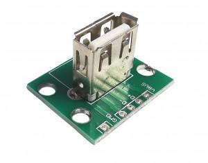 Gniazdo USB A pionowe do płytki prototypowej