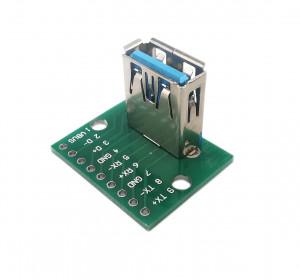 Gniazdo USB A 3.0 pionowe do płytki prototypowej