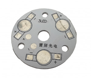 Płytka aluminiowa/radiator 3 LED d=35mm