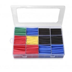Komplet rurek termokurczliwych kolorowych 560szt pudełko