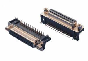 Gniazdo D-SUB 25 pin 7.2 kątowe do druku