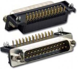 Wtyk D-SUB 25 pin 7.2 kątowy do druku